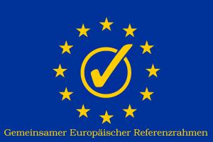 Symbol für die Anwendung des Gemeinsamen Europäischen Referenzrahmens für Sprachen